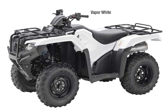2018 Honda FourTrax Rancher Automatic DCT EPS ATV - Vapor White