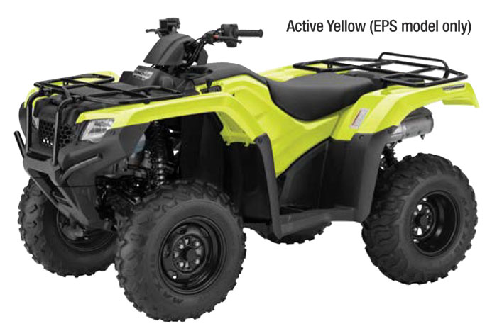 2018 Honda FourTrax Rancher Automatic DCT IRS EPS ATV - Active Yellow