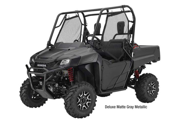 2018 Honda Pioneer 700 Side by Side - Matte Gray Metallic