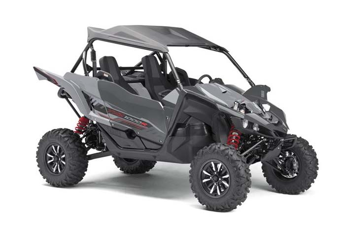 2018 Yamaha YXZ1000R Side-by-Side - Graphite w/Grey Suntop & Aluminum Wheels