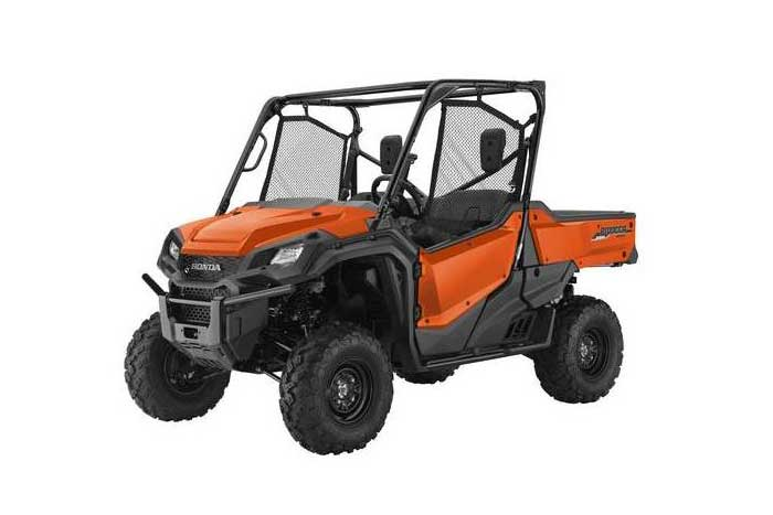 2016 Honda Pioneer 1000 Side by Side orange