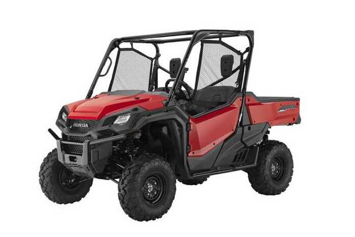 2018 Honda Pioneer 1000 Side by Side red