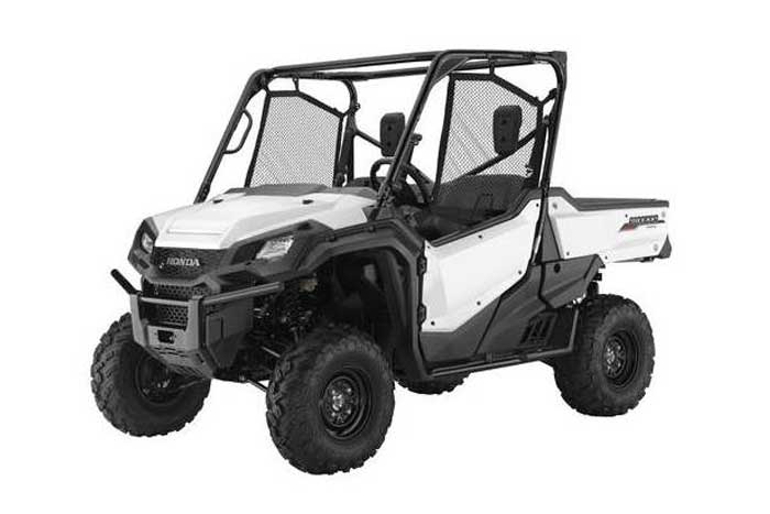 2016 Honda Pioneer 1000 Side by Side white
