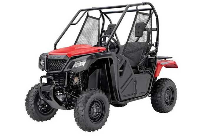 2018 Honda Pioneer 500 Side by Side red