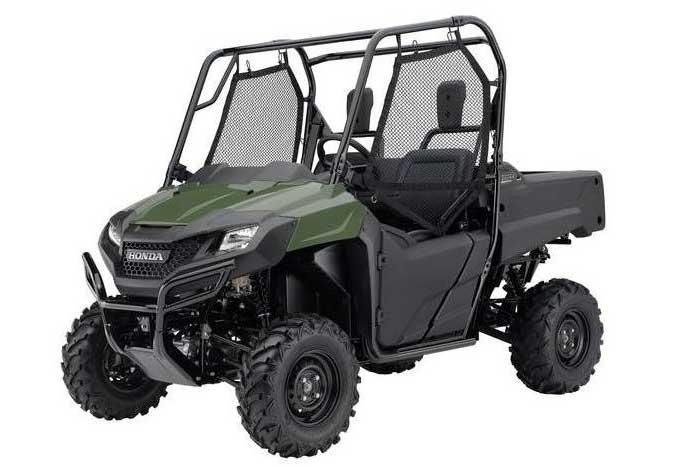 2016 Honda Pioneer 700 Side by Side olive