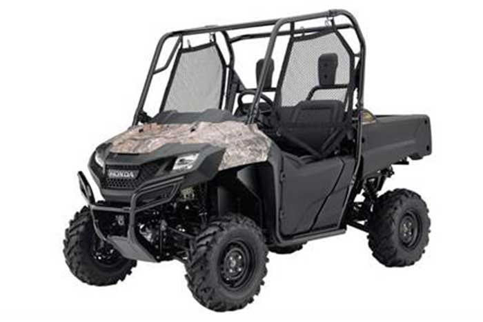 2016 Honda Pioneer 700 Side by Side camo