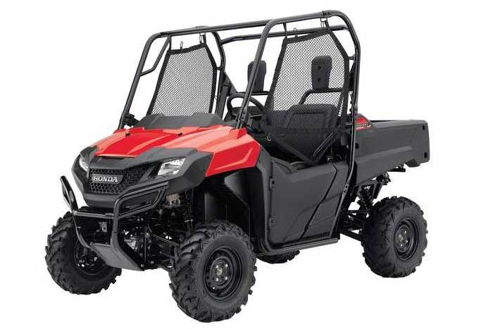 2016 Honda Pioneer 700 Side by Side red