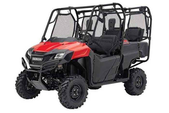 2018 Honda Pioneer 700-4 Side by Side red