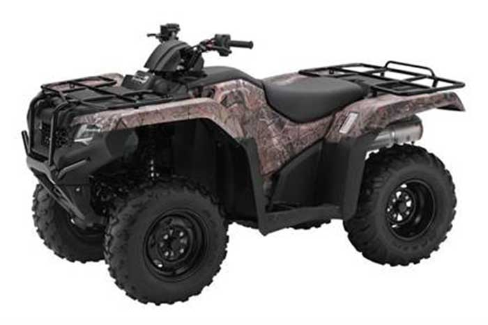 2018 Honda FourTrax Rancher 4x4 ESP ATV Red Camo
