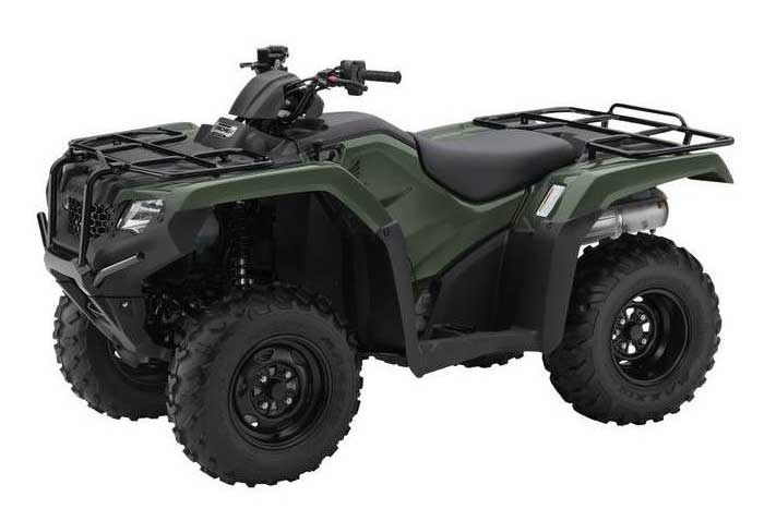 2018 Honda FourTrax Rancher 4x4 ESP ATV Red Olive