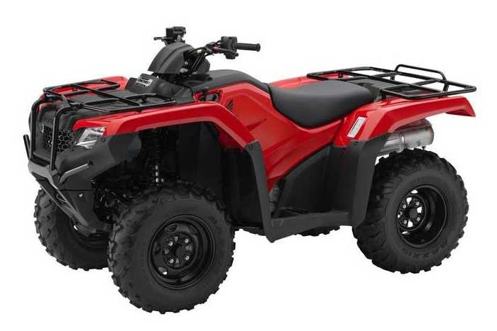 2018 Honda FourTrax Rancher 4x4 ESP ATV Red