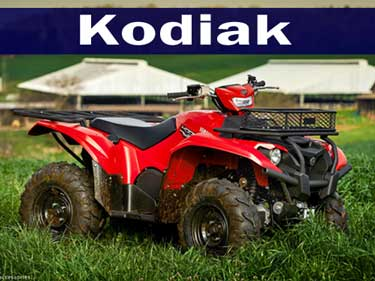 2016 Yamaha Kodiak ATV's